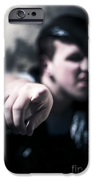 Fury iPhone Cases - Pointing Out Of The Shadows Of Darkness iPhone Case by Ryan Jorgensen