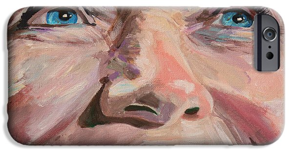 First Lady iPhone Cases - Poised for the Presidency Hillary Clinton Portrait iPhone Case by Robert Yaeger