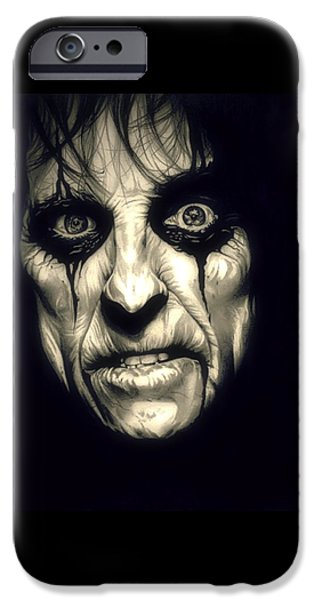 Boa Constrictor iPhone Cases - Poison Alice Cooper iPhone Case by Fred Larucci