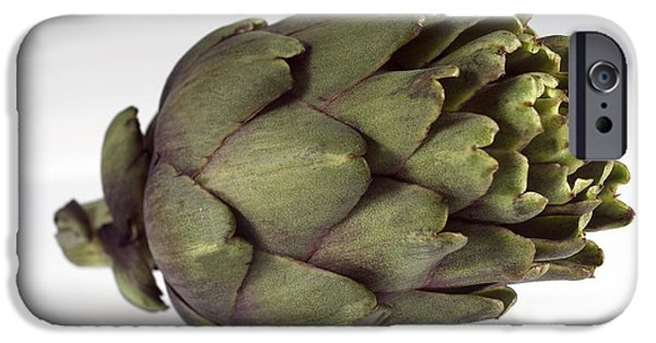 Cut-outs iPhone Cases - Poivrade Artichoke iPhone Case by Gerard Lacz