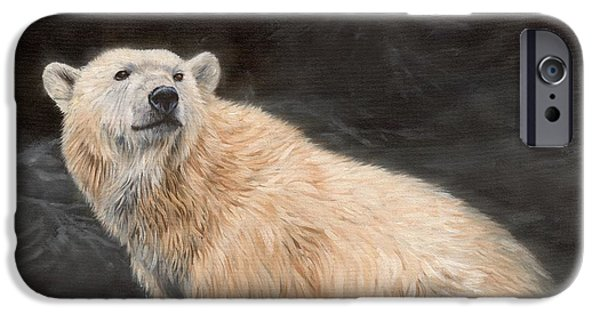 David iPhone Cases - Polar Bear iPhone Case by David Stribbling