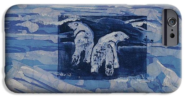 Winter Scene Tapestries - Textiles iPhone Cases - Polar Hunting iPhone Case by Kate Ford