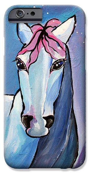 Stellar iPhone Cases - Polaris Whimsical Horse Art by Valentina Miletic iPhone Case by Valentina Miletic