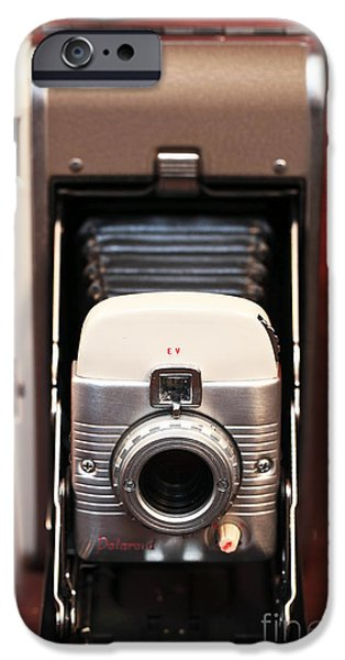 Polaroid iPhone Cases - Polaroid Bellows Camera iPhone Case by John Rizzuto