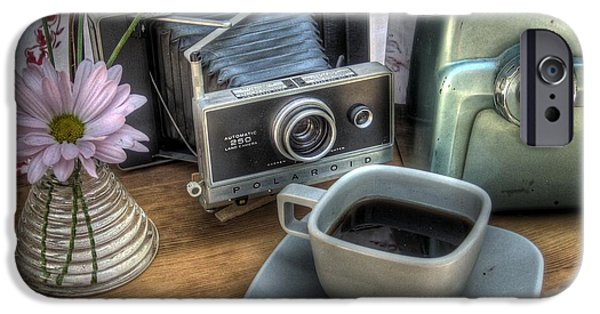 Camera iPhone Cases - Polaroid perceptions iPhone Case by Jane Linders