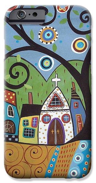 Polkadot Church iPhone Case by Karla Gerard