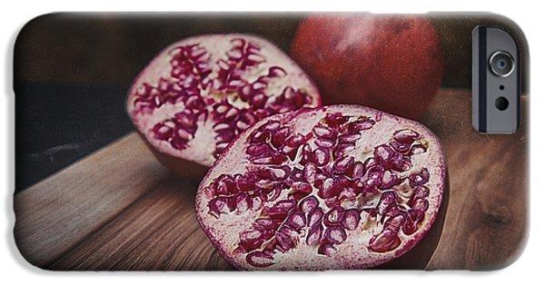 Slices iPhone Cases - Pomegranates iPhone Case by Tom Mc Nemar