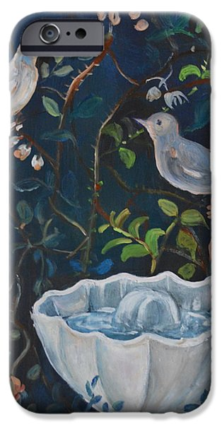 Garden Scene Paintings iPhone Cases - Pompeii Two iPhone Case by Julie Todd-Cundiff