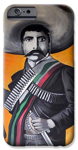 Arango iPhone Cases - Emiliano Zapata iPhone Case by Kurt Van Wagner