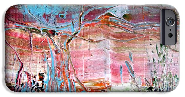 Drips Paintings iPhone Cases - Pond at Cattana Wetlands iPhone Case by Christopher Chua
