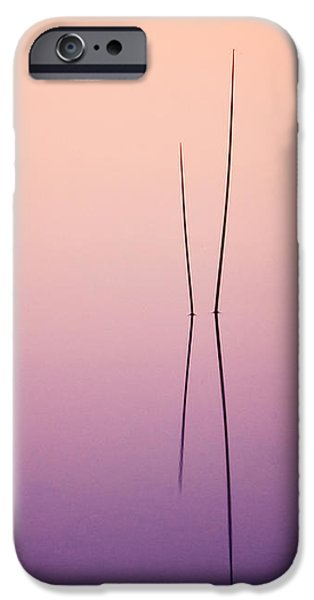 Pond Reeds - Abstract iPhone Case by Thomas Schoeller