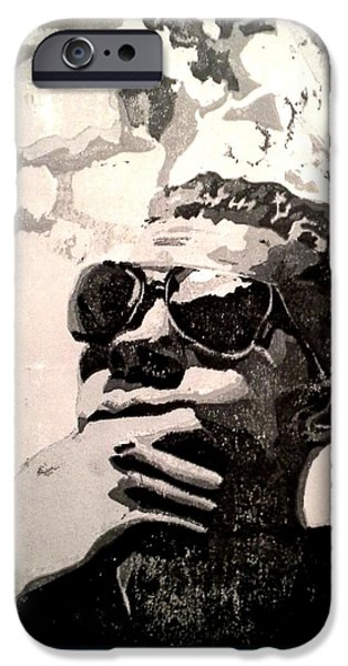 Portraits Reliefs iPhone Cases - Pondering iPhone Case by Ashley Casterline