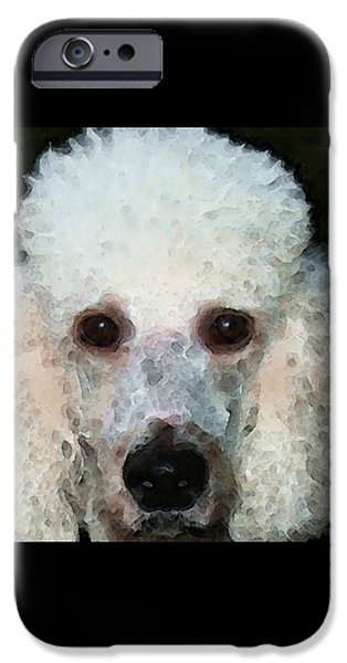 Veterinary iPhone Cases - Poodle Art - Noodles iPhone Case by Sharon Cummings