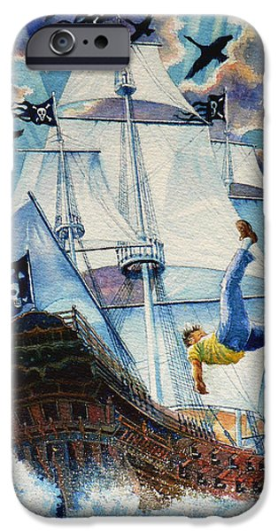 Tall Ship iPhone Cases - Pooka Hill 11 iPhone Case by Hanne Lore Koehler