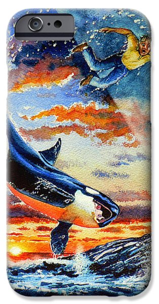 Whale iPhone Cases - Pooka Hill 12 iPhone Case by Hanne Lore Koehler