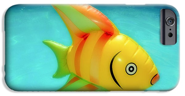 Summer iPhone Cases - Pool Toy Large Polaroid Transfer iPhone Case by Tony Grider