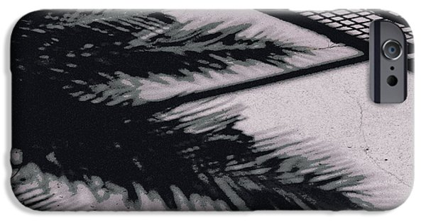 Eerie iPhone Cases - Poolside in the Twilight Zone  iPhone Case by Charlotte Stevenson