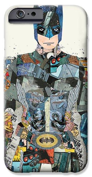 Batman Poster iPhone Cases - Pop Art Batman iPhone Case by Bri Buckley