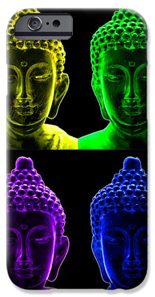 Pop art buddha  iPhone Case by Fabrizio Troiani