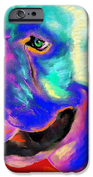 Pop Art English Bulldog painting prints iPhone Case by Svetlana Novikova