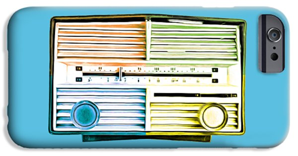 Shirt Digital iPhone Cases - Pop Radio Tee iPhone Case by Edward Fielding