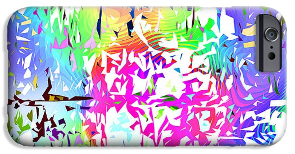 Abstract Digital Tapestries - Textiles iPhone Cases - Confetti PopArt iPhone Case by FabricWorks Studio