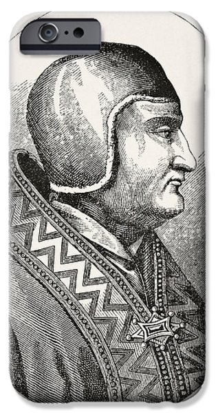 Pope Drawings iPhone Cases - Pope Clement Iv 1195 To 1268 Born Gui iPhone Case by Ken Welsh
