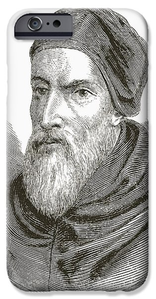 Pope Drawings iPhone Cases - Pope Clement Vii Born Giulio Di iPhone Case by Ken Welsh