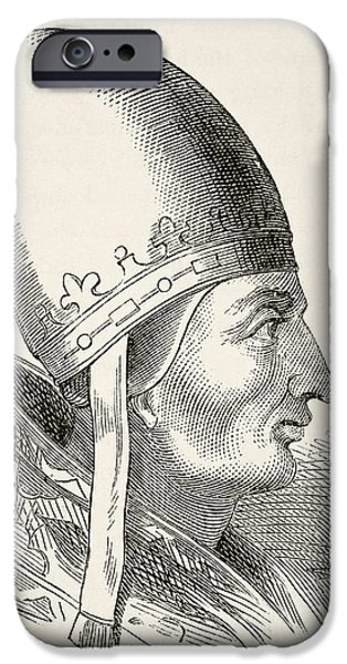 Pope Drawings iPhone Cases - Pope Innocent Iii 1161 To 1216. From iPhone Case by Ken Welsh