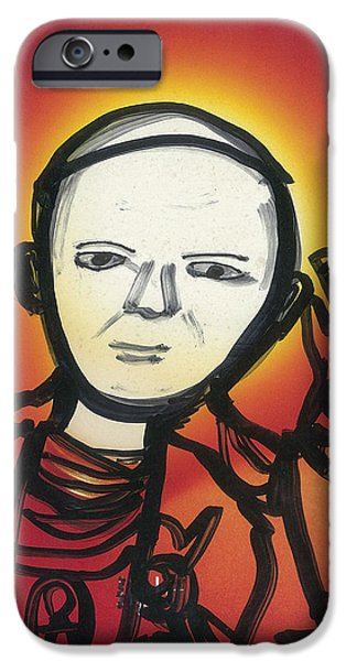 Pope Mixed Media iPhone Cases - Pope John Paul 2 iPhone Case by Don Koester