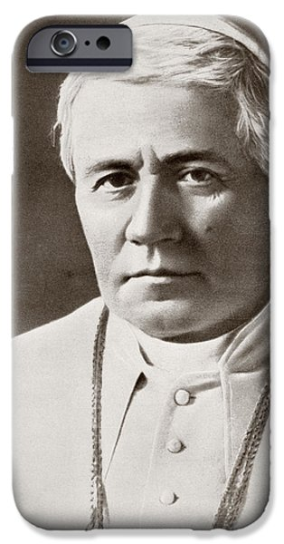 Pope Drawings iPhone Cases - Pope Saint Pius X, 1835   1914, Born iPhone Case by Ken Welsh