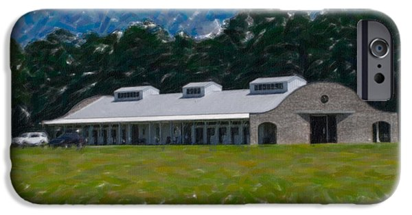 Equestrian Center iPhone Cases - Poplar Grove Equestrian Center in Ravenel SC iPhone Case by Dale Powell