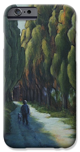 Dogs iPhone Cases - Poplar Road iPhone Case by Michael Beckett