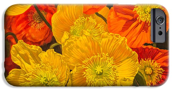 Flora iPhone Cases - Poppies 2 iPhone Case by Fiona Craig