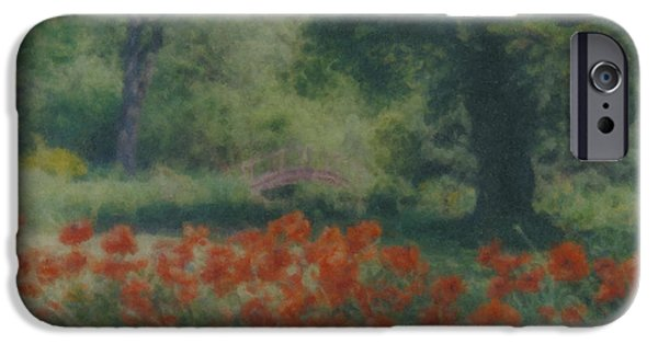 Mcentee Paintings iPhone Cases - Poppies at 35 Highland St. Easton MA iPhone Case by Bill McEntee