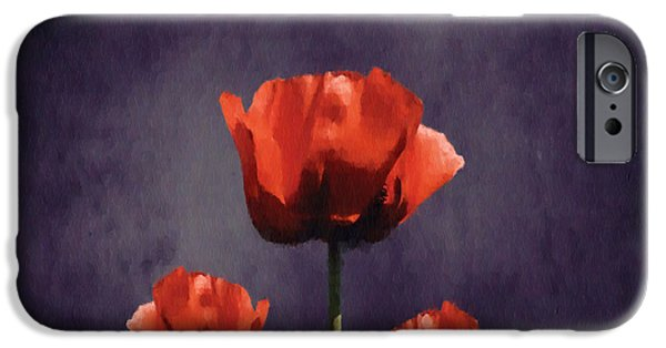 Aimelle iPhone Cases - Poppies Fun 01b iPhone Case by Variance Collections