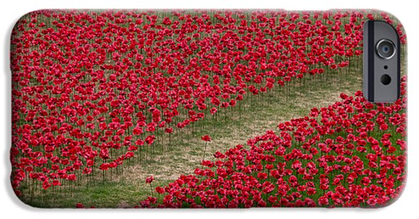 Ww1 Photographs iPhone Cases - Poppies Of Remembrance iPhone Case by Martin Newman