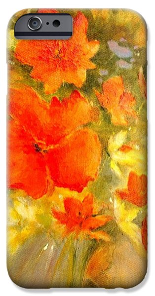 Poppy Bouquet  iPhone Case by Madeleine Holzberg