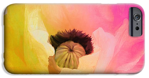 California Poppies iPhone Cases - Poppy Gradient Pink iPhone Case by Mindy Sommers