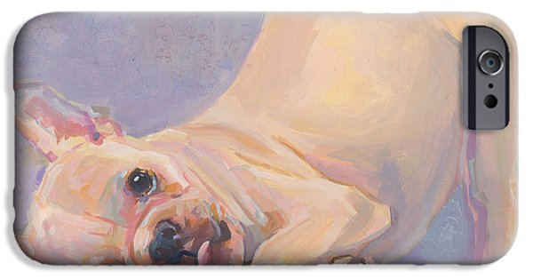 Puppies iPhone Cases - Poppy Puppy iPhone Case by Kimberly Santini