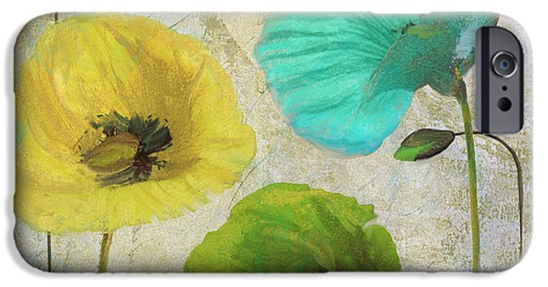California Poppies iPhone Cases - Poppy Shimmer I iPhone Case by Mindy Sommers