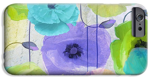 California Poppies iPhone Cases - Poppy Shimmer IV iPhone Case by Mindy Sommers