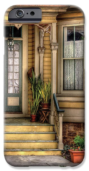 Porch - House 109 iPhone Case by Mike Savad