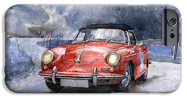Auto iPhone Cases - Porsche 356 B Roadster iPhone Case by Yuriy  Shevchuk