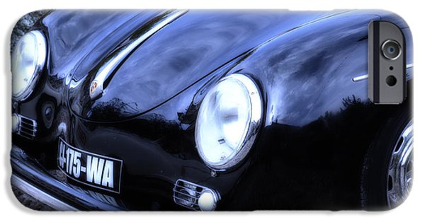 Racing iPhone Cases - Porsche 356 Lines iPhone Case by Nomad Art And  Design