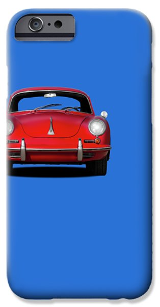 Classic Sport Car iPhone Cases - Porsche 356 iPhone Case by Mark Rogan