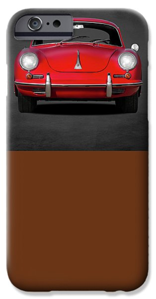 Sport Car iPhone Cases - Porsche 356 iPhone Case by Mark Rogan