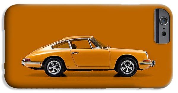 Turbo iPhone Cases - Porsche 911 1968 iPhone Case by Mark Rogan