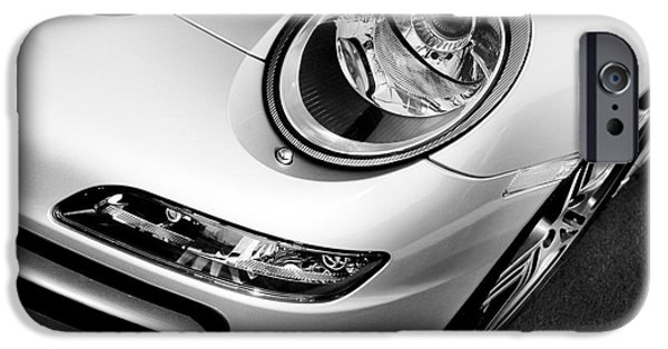 911 iPhone Cases - Porsche 911 Black and White iPhone Case by Paul Velgos