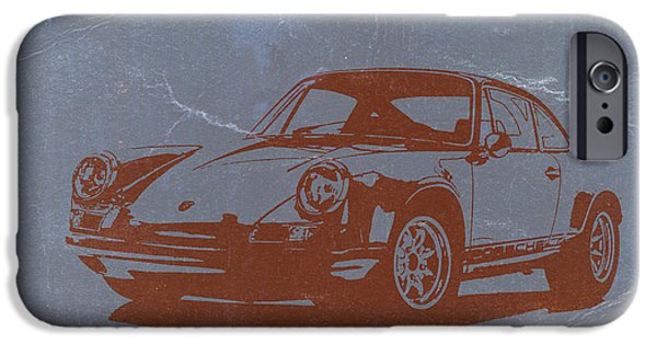 Old Car iPhone Cases - Porsche 911 iPhone Case by Naxart Studio